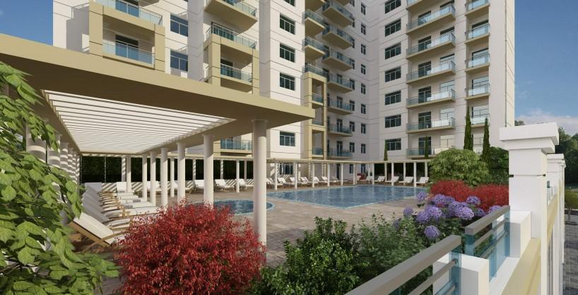 غرفتي نوم في شقة (مطلة على حمام سباحة) بمساحة 147 م2، في فريشيا من عزيزي للتطوير العقاري