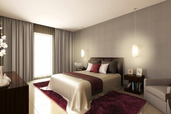 غرفة نوم في شقة فندقية بمساحة 82 م2، في تينورا من داماك العقارية