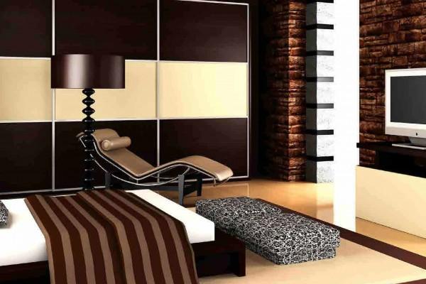 غرفة نوم في شقة فندقية بمساحة 75 م2، في اكويا من داماك من داماك العقارية