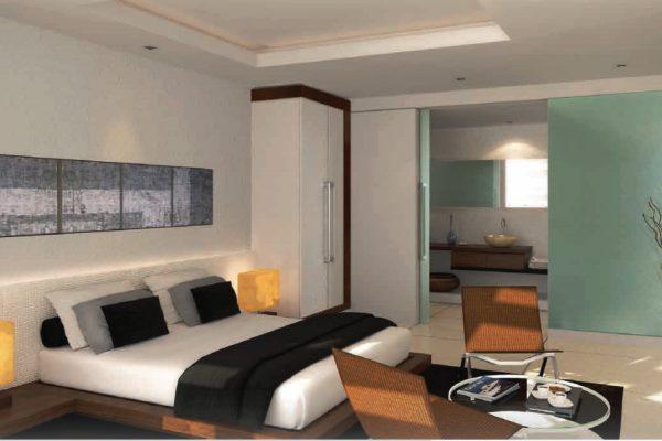 غرفتي نوم في شقة بمساحة 125 م2، في برج المنارة من تايجر العقارية