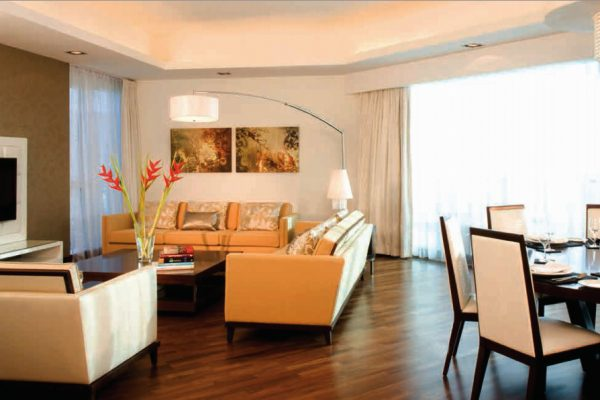غرفة نوم في شقة بمساحة  76 م2، في برج المنارة من تايجر العقارية